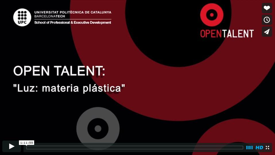Open Talent Luz Materia Plastica