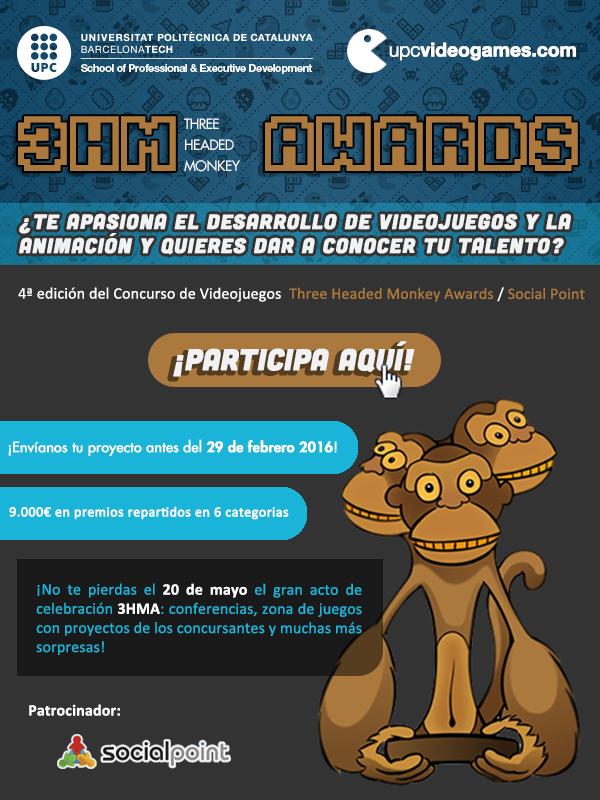 Concurso de Videojuegos Three Headed Monkey Awards.SocialPoint